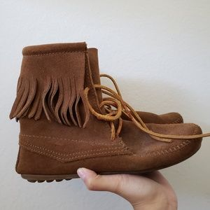 Minnetonka moccasin ankle boots